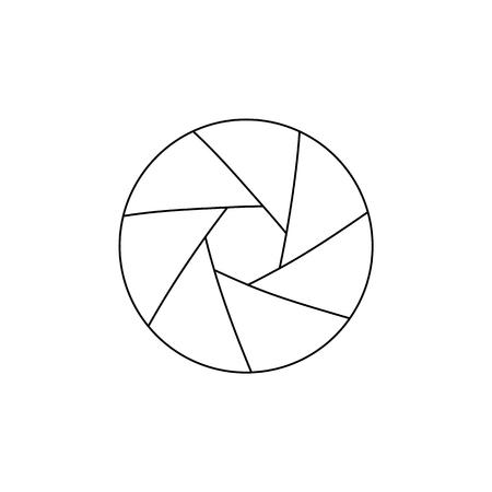 Simple thinline icon of photo camera lens aperture Stock Illustratie