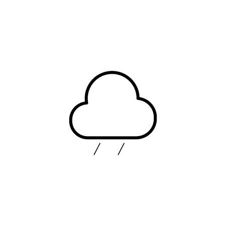 Simple cloud and rain isolated icon for design