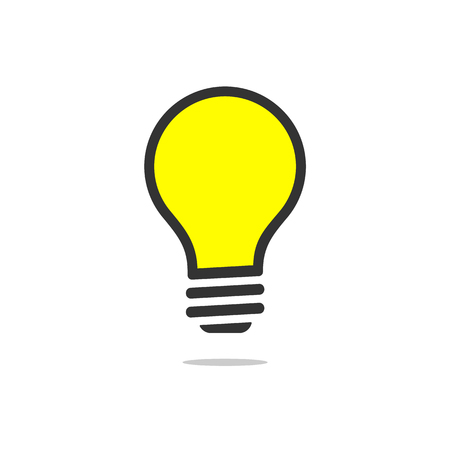 Light bulb icon. lightbulb sign. Idea concept illustration