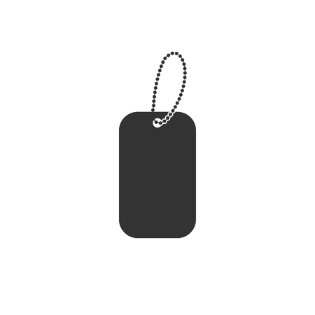 Simple dog tag icon isolated on white background