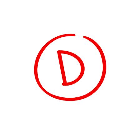 D examination result grade red latter mark
