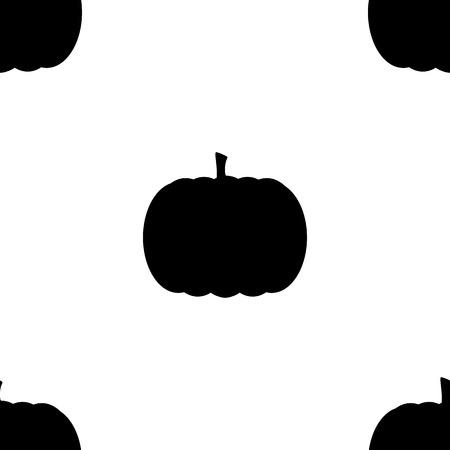 Pumpkin elements seamless background. Halloween tileable pattern