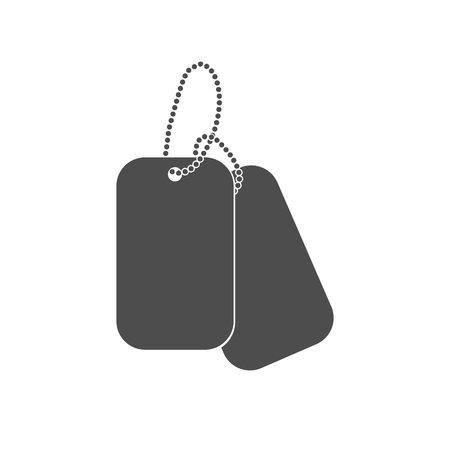 Dogtag personal id sign illustration. Dog tag identification mark