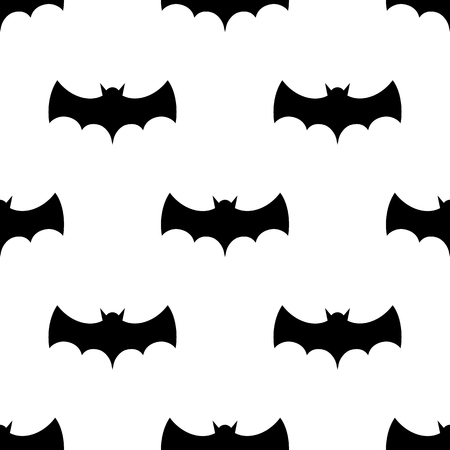 Seamless pattern with bats. Tileable illustration for wrap, cloth, background