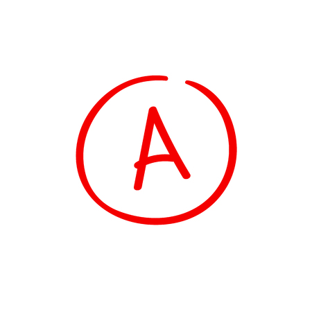 A examination result grade latter mark sign Ilustracje wektorowe