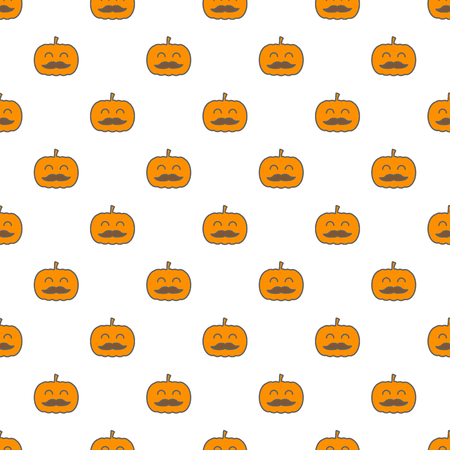 Jack o lantern elements seamless background. Halloween tileable pattern