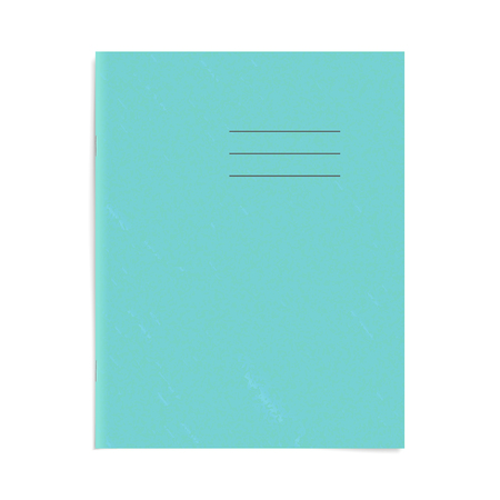 Exercise book cover template. Blank school workbook top page