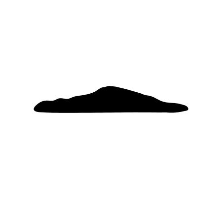 Simple feces icon. Black poop simbol. Fecals sign