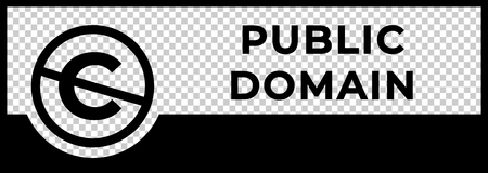 Public domain sign with crossed out C letter icon.