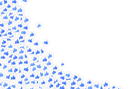 Smm and social background with thumb up icons