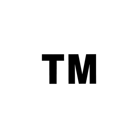 Trademark icon isolated on a white background. TM. Illustration