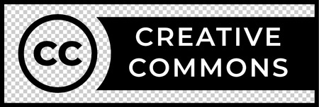 Creative commons rights management sign with circular CC icon