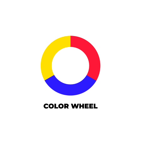 Simple color wheel icon isolated on white background.