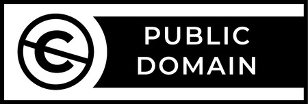 Public domain sign with crossed out C letter icon in a circle Illustration