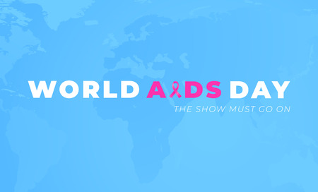 Worlds AIDS Alertness day poster design with blue background Vectores