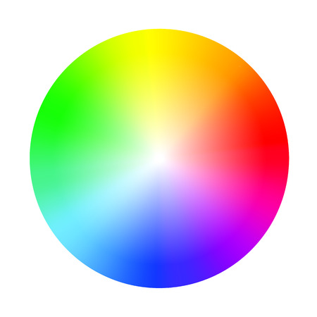 Color wheel guide with saturation and highlight. Colour picker assistant Stock Illustratie