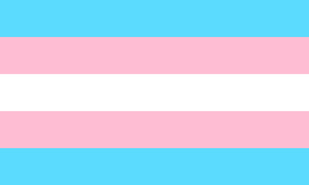 Transgender flag - one of a communities of LGBT pride sexual minority.