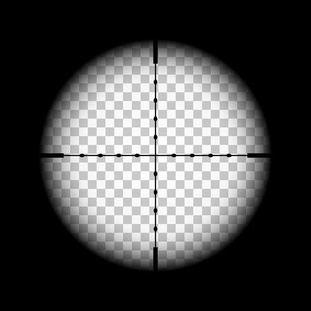 Rifle gun crosshairs illustration with transparent background