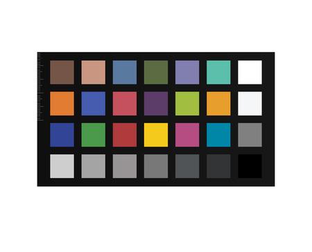 Tableau à puces Colorchecker. Passeport d'étalonnage des couleurs pour la post-production