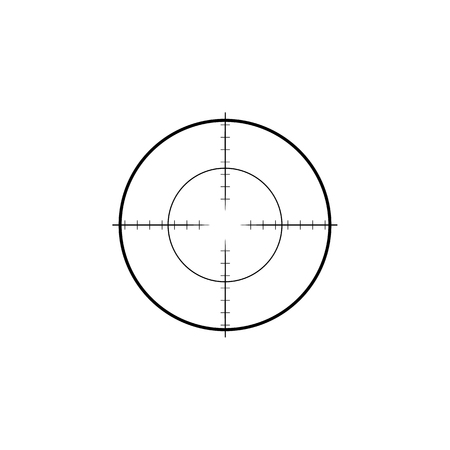 Collimator sight icon. Military sniper rifle target crosshairs Çizim
