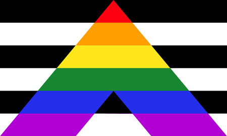 Straight ally pride flag - mix of LGBT and heterosexual communities signs.