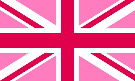 Pink Jack flag - LGBT pride community flag of Great Britain