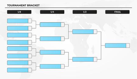 Plantilla de soporte de torneo en blanco para competiciones de la copa del mundo Ilustración de vector