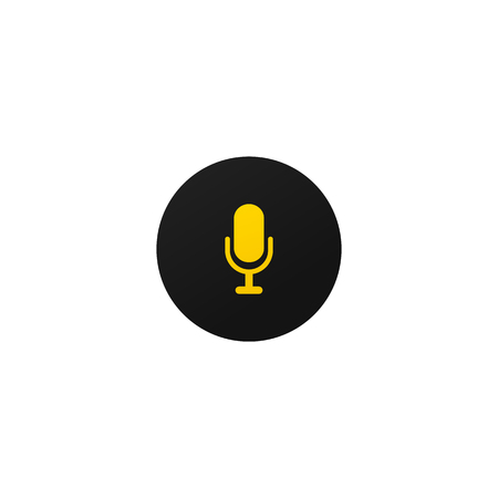 Modern mic button for mobile apps and web sites