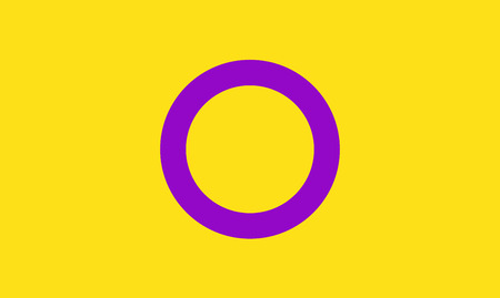 Intersex pride flag - one of the sexual minority of LGBT community. Illustration