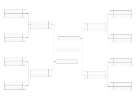 Empty tournament bracket template for word contest infographics