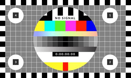 Retro testchipkaartpatroon dat werd gebruikt voor tv-kalibratie
