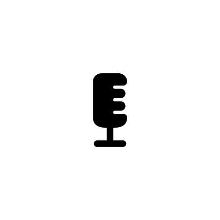 Simple microphone icon for user interface and modern applications