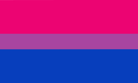 Bisexual pride flag - one of the sexual minority of LGBT community