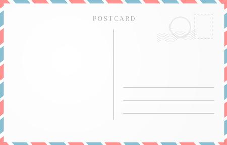 Vintage travel card design. Blank postcard template. Vetores