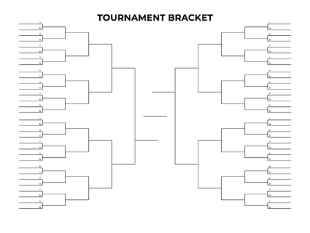 Black championship bracket. Empty tournament infographics template 矢量图像