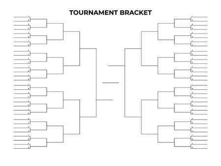 Black championship bracket. Empty tournament infographics template Illustration
