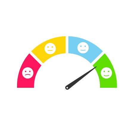 Customers feedback smiley infographics set. User testimonials emoticon illustration Vector Illustration