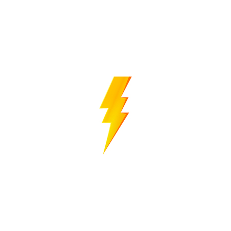 Flash and thunder bolt icon. High voltage and electricity symbol