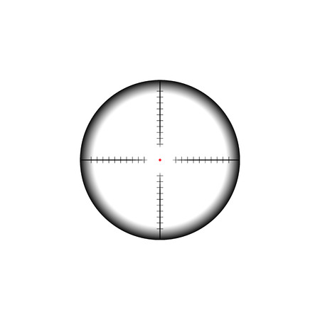 Collimator sight icon. Military sniper rifle target crosshairs