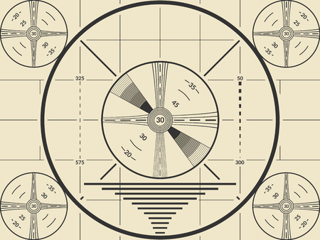 Vintage tv test screen pattern for television calibration Иллюстрация