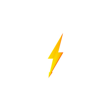 Flash and thunder bolt icon. High voltage and electricity symbol Standard-Bild - 114439924