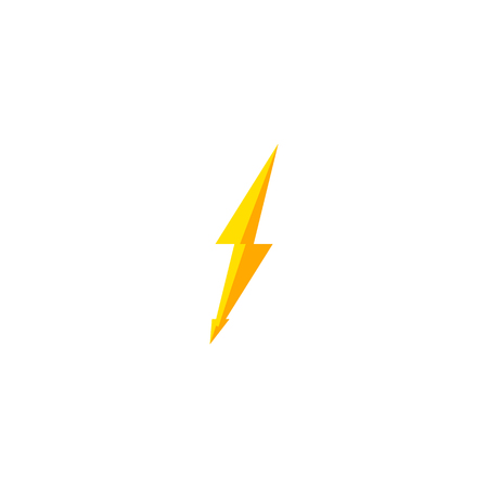 Flash and thunder bolt icon. High voltage and electricity symbol Standard-Bild - 114439926