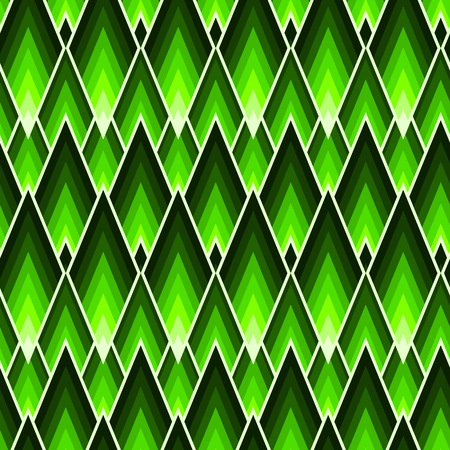 Rectangles or lozenges seamless pattern in trendy neon lime color Ilustracje wektorowe