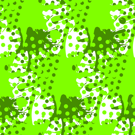 Abstract seamless pattern with fluid forms in modern ufo green color