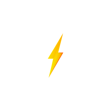 Flash and thunder bolt icon. High voltage and electricity symbol Standard-Bild - 115563512