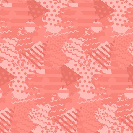 트렌디한 산호 색상의 액체 모양이 있는 추상 패턴