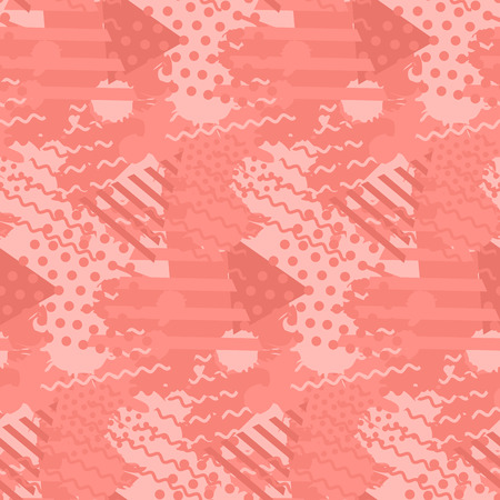 Abstract pattern with liquid shapes in trendy coral color