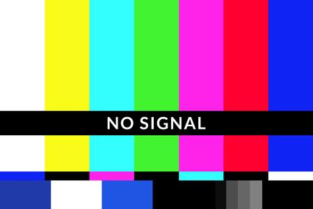 Retro geen signaal tv-testschermpatroonkaart Vector Illustratie