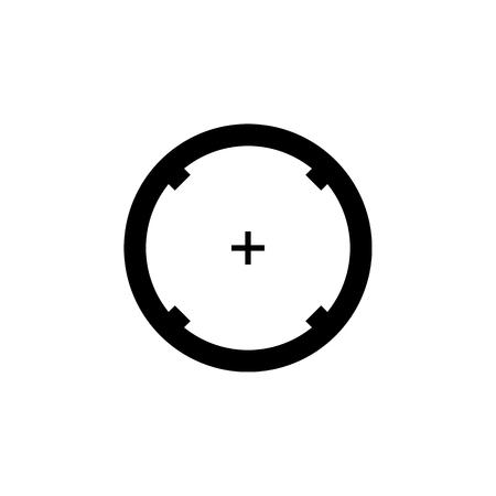 Black aim icon. Sniper scope crosshairs sign