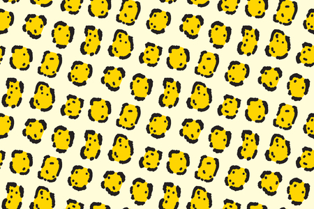Jaguar seamless texture. Tropical animal tile pattern  イラスト・ベクター素材